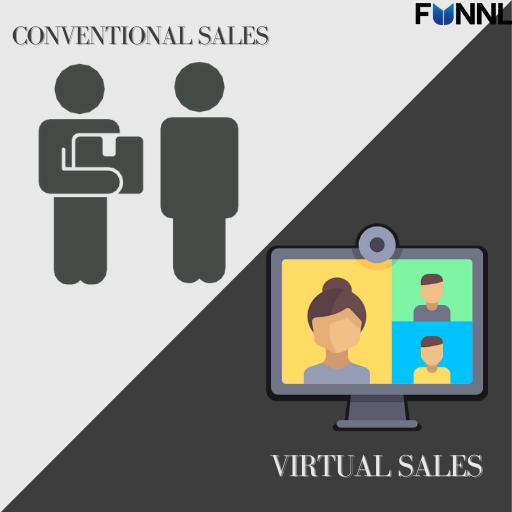 conventional sales vs virtual sales